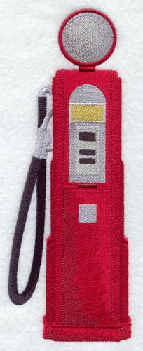 Antique Gas Pump, Embroidered Patch