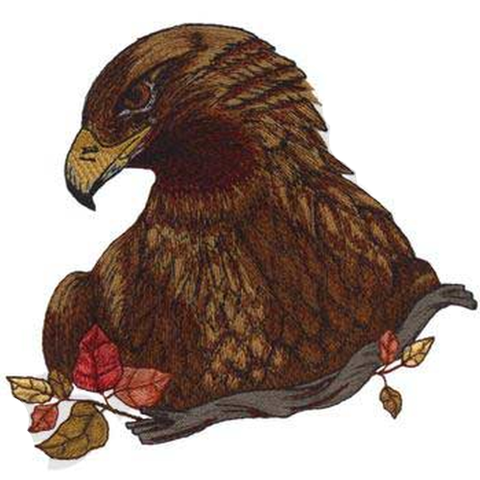 "Golden Eagle Head Embroidered Patch 7"" x 6.6"" Free USA Shipping"