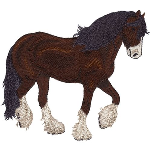 "Brownshire Horse Embroidered Patch Approx Size 5.7"" x 5"""