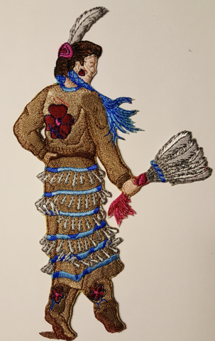 "Jingle Dancer, Kachina Embroidered Patch 5.3"" x 8.9"" Free USA Shipping"