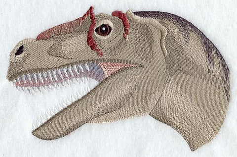 Dinosaur Allosaurus Head Embroidered Patch