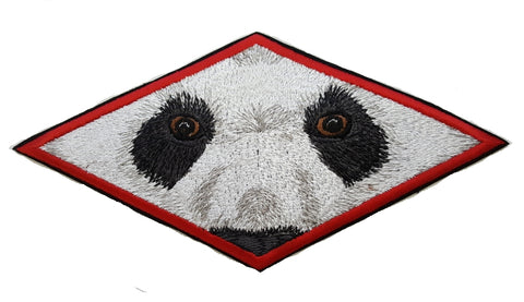 Panda Bear Eyes Embroidered Patch 7.5 x 3.6