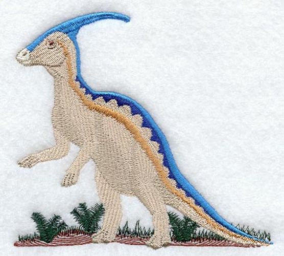 Dinosaur Parasaurolophus Embroidered Patch