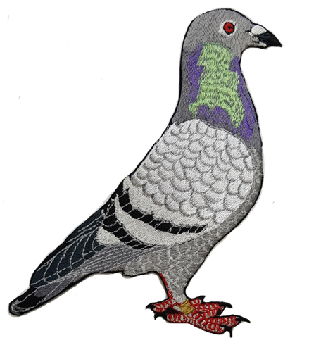 Pigeon Embroidered Patch 2 sizes Free Shipping