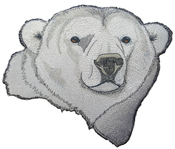"Polar Bear Embroidered Patch 7.9"" x 7.2"" FREE USA SHIPPING"