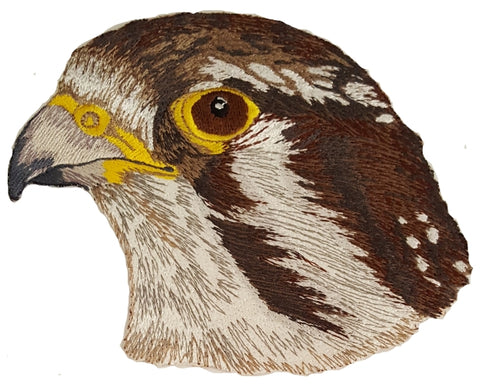 "Prairie Falcon Embroidered Patches 5.7"" x 4.7"""