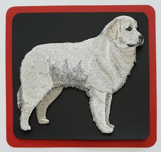 "Great Pyrenees Dog  Embroidered Patch  3.8"" x 3.5"""