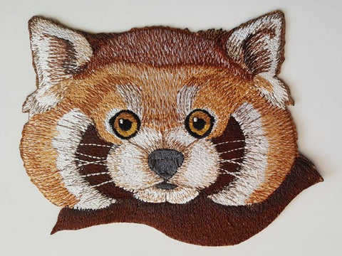 "Red Panda Embroidered Patch 6.9"" x 5.4"""