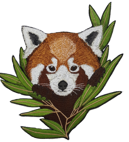 Red Panda Embroidered Patch