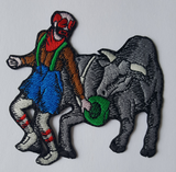 "Rodeo Clown Embroidered Patch 3.5"" x 3.5"" FREE USA SHIPPING"