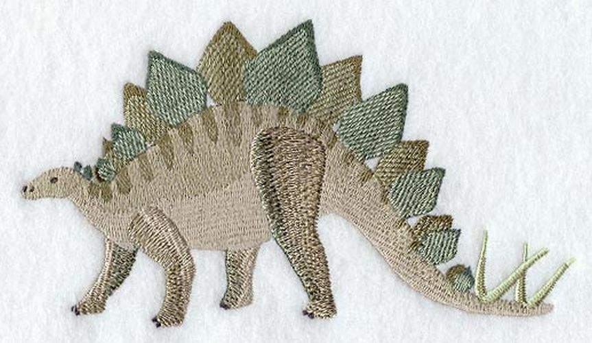 Dinosaur Stegosaurus Embroidered Patch