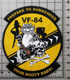 "Tom Cat, VF-84 Prepare To Surrender Your Booty Baby! Embroidered Patch 8"" x 9.5"""