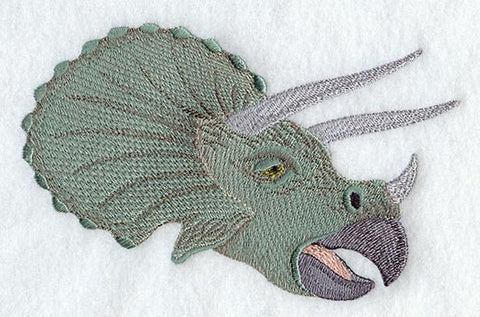 Dinosaur Triceratops Head Embroidered Patch