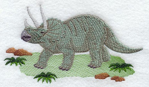 Dinosaur Triceratops Embroidered Patch