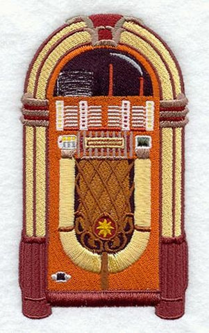 Antique Jukebox Embroidered Patch