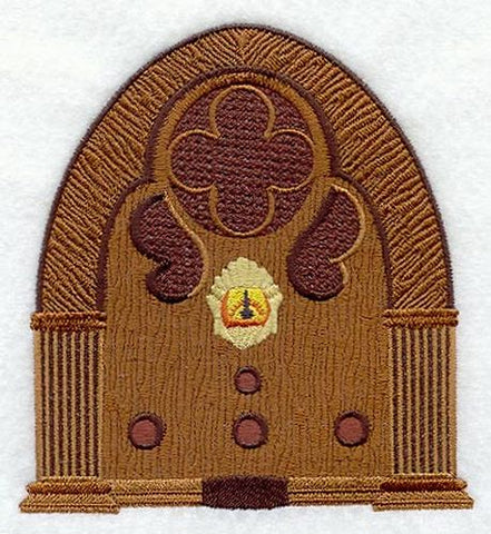Antique Radio Embroidered Patch