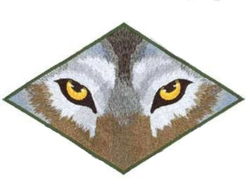 Wolf Eyes Wolves Embroidered Patch 7.9 x 5