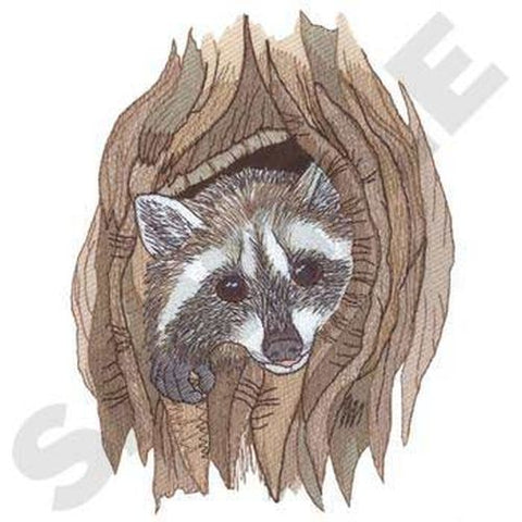 "Raccoon Embroidered Patch 5.2"" x 7"""