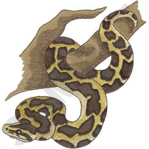 Snake Burmese Python  Reptile Embroidered Patch 6.4 x 6.6