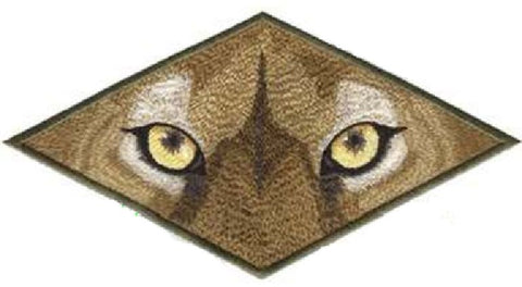 Cougar Eyes Exotic Cat Embroidered Patch 7.9 x 4