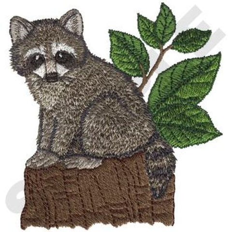 "Raccoon Baby Embroidered Patch 3.4"" x 3.7"