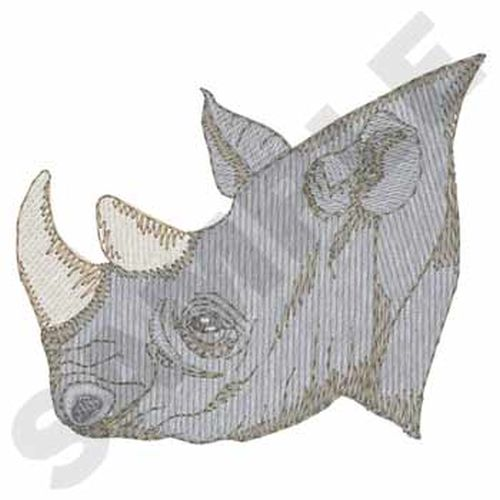 "Rhino, African Rhinoceros Embroidered Patch 3"" x 2.5"""