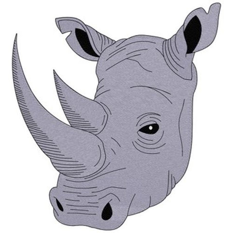 "Rhino, Rhinoceros Embroidered Patch 7.1"" x 7.8"""