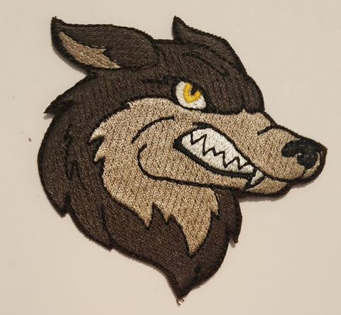 "Wolf, Wolves, Sports, Mascots, Embroidered Patch 3""x 2.9"""