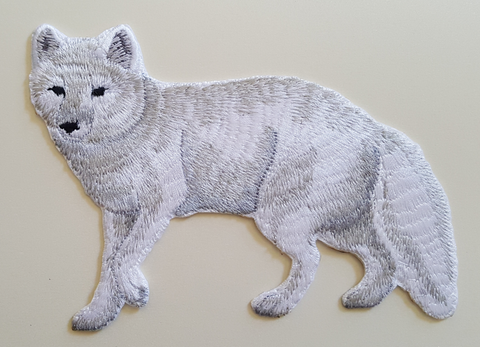 Arctic Fox Embroidered Patch Free USA Shipping