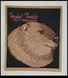 "Beaver Head Embroidered Patch 5.9"" x 5.3"""