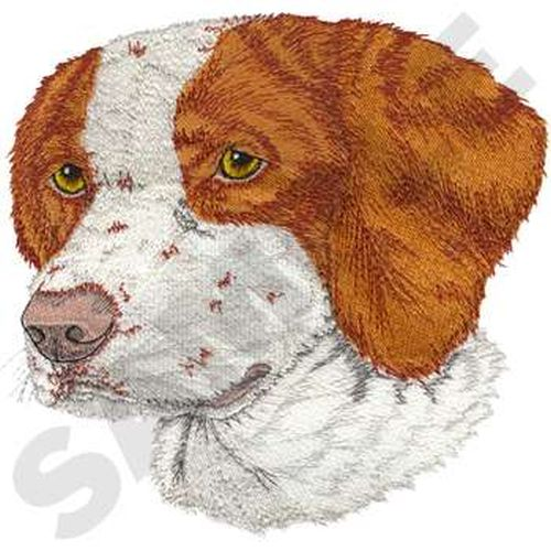 "Brittany Dog Embroidered Patch 7.9"" x 7.6"""