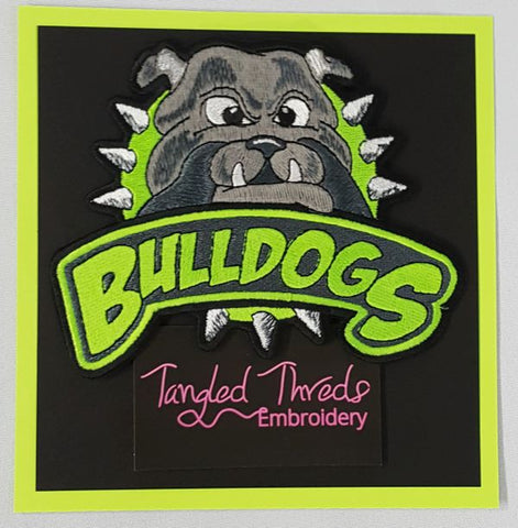 "Bulldog, Embroidered Patch 6.1"" x 4.9"""