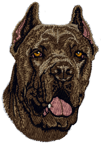 "Cane Corso Dog Embroidered Patch 3"" FREE USA SHIPPING"