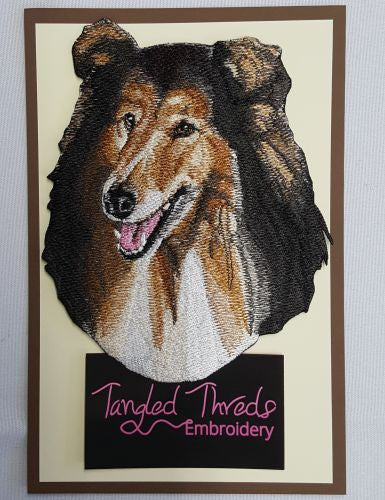 Collie Embroidered Patch