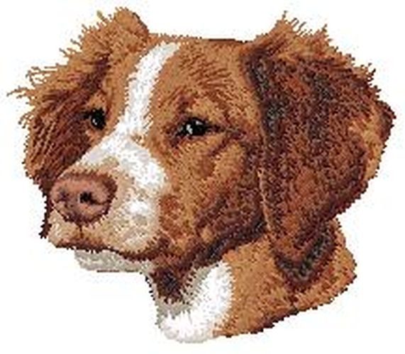 "Brittany Dog Embroidered Patch 2.9"" Tall"