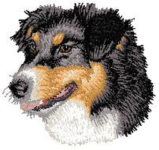 Australian Shepherd, Aussie Dog 654, Embroidered Patch (3 Inches Tall)