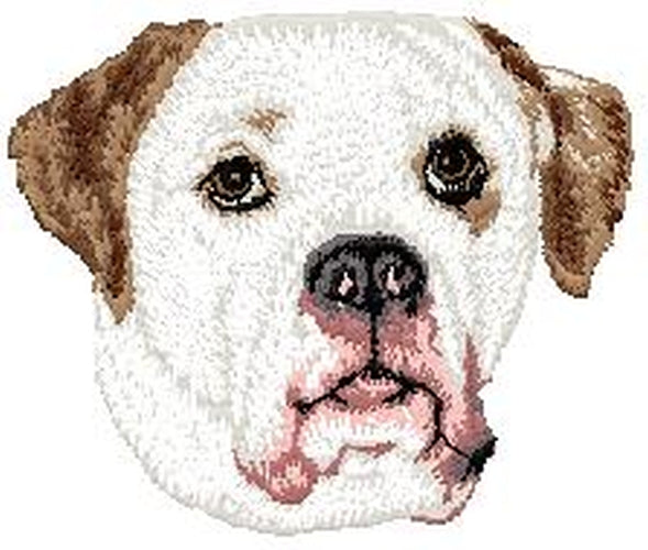 "Bulldog American (87) Embroidered Patch 3"" x 3"""