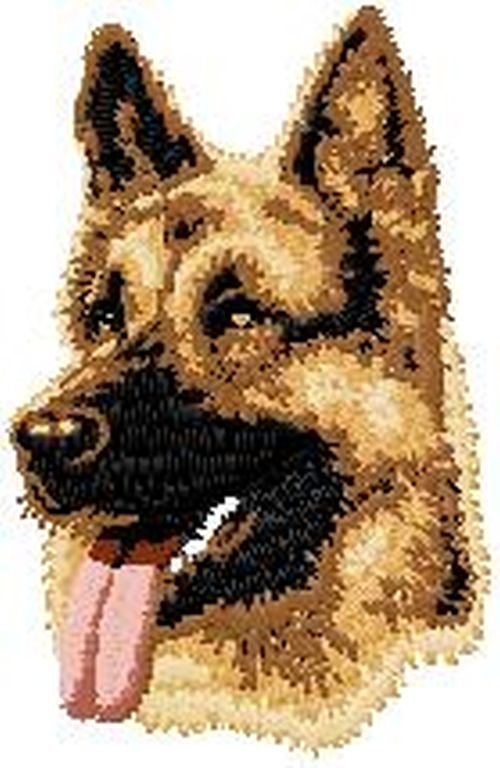 German Shepherd, Embroidered Patch 3.1""