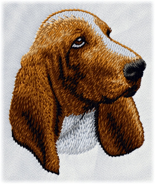 Basset Hound Dog Embroidered Patch (2.9 Inches Tall)