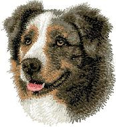 Australian Shepherd, Aussie Dog, Embroidered Patch (3 Inches Tall)