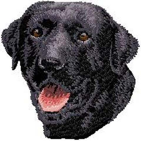 Labrador Retriever (Black) Dog Embroidered Patch 2.9""