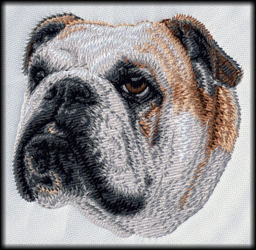 "Bulldog Bully (94) Embroidered Patch 3"" x 3"""