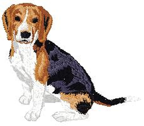 Beagle Dog (Full Body) Embroidered Patch (2.9 Inches Tall)