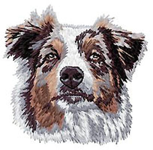 Australian Shepherd, Aussie Dog, Embroidered Patch (3.2 Inches Tall)