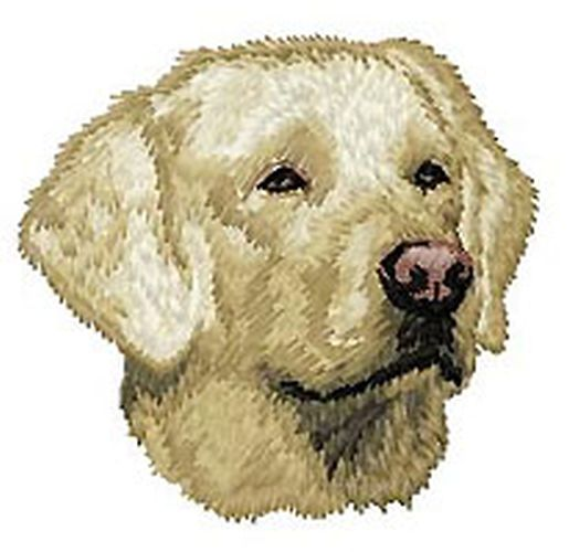 Labrador Retriever Dog, (Yellow) Embroidered Patch 2.9""
