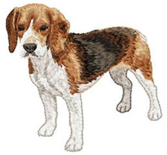 Beagle Dog (Full Body) Embroidered Patch (3.1 Inches Tall)