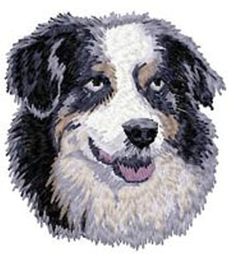 Australian Shepherd, Aussie Dog, Embroidered Patch (2.8 Inches Tall)