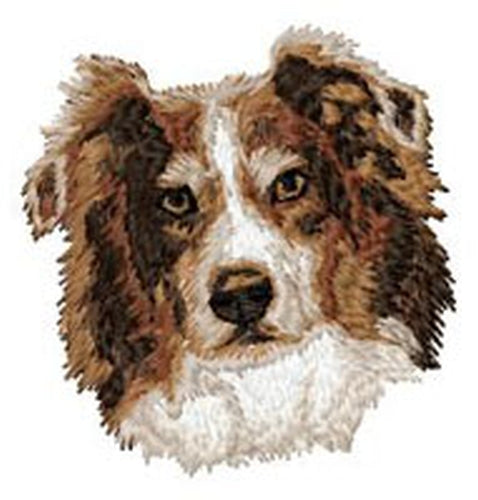 "Australian Shepherd, Aussie Dog 457, Embroidered Patch 3"" Tall Free USA Shipping"