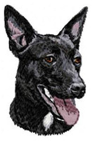 Australian Kelpie Dog Embroidered Patch (2.9 Inches Tall)
