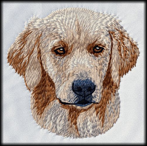 Golden Retriever Dog Embroidered Patch 3""